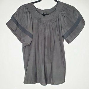 Ramy Brook S black flowy short sleeve blouse